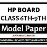 HP Board 6th, 7th, 8th, 9th SA FA Exam Model Paper 2022