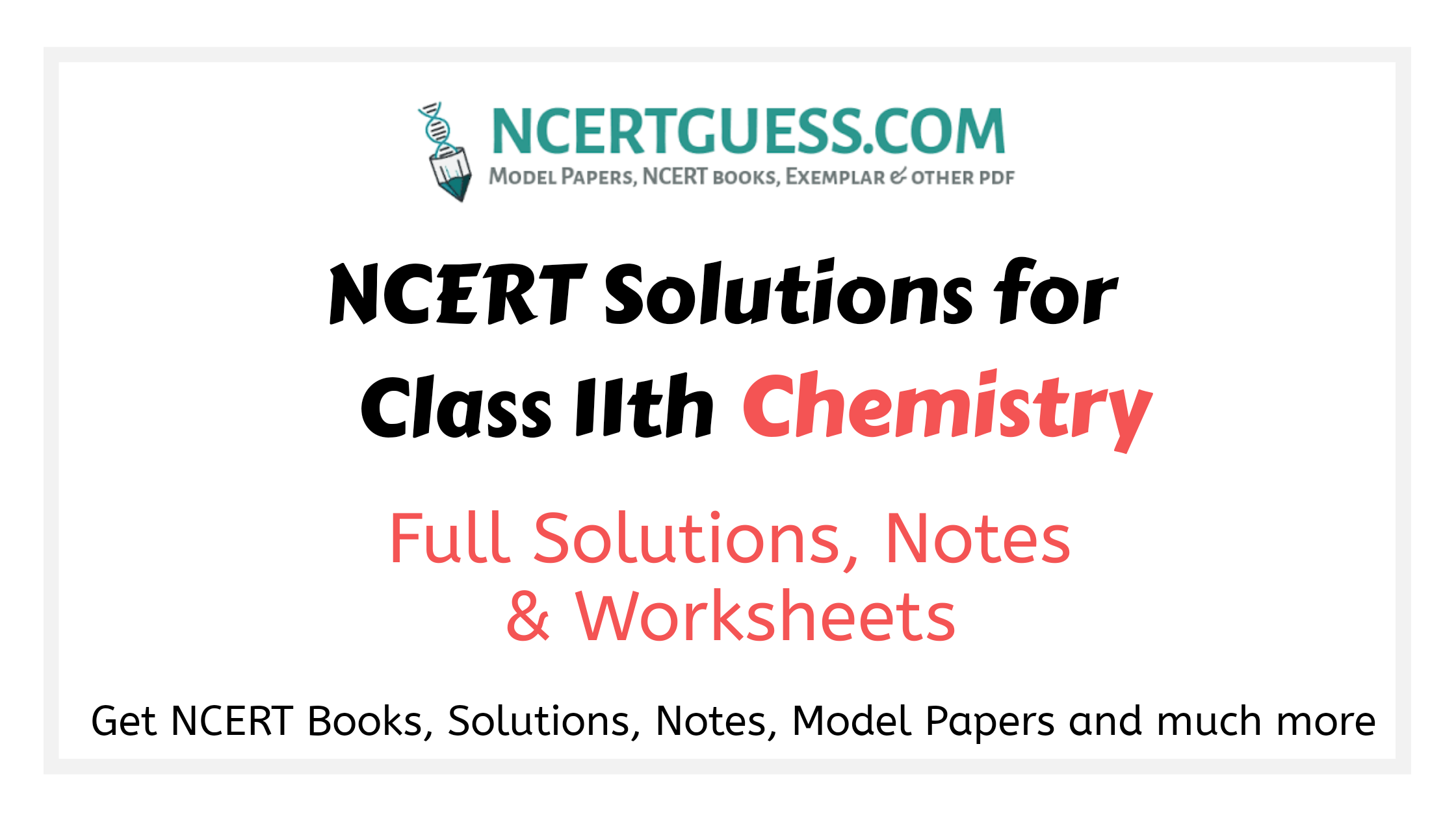 Class 11th Chemistry Solutions