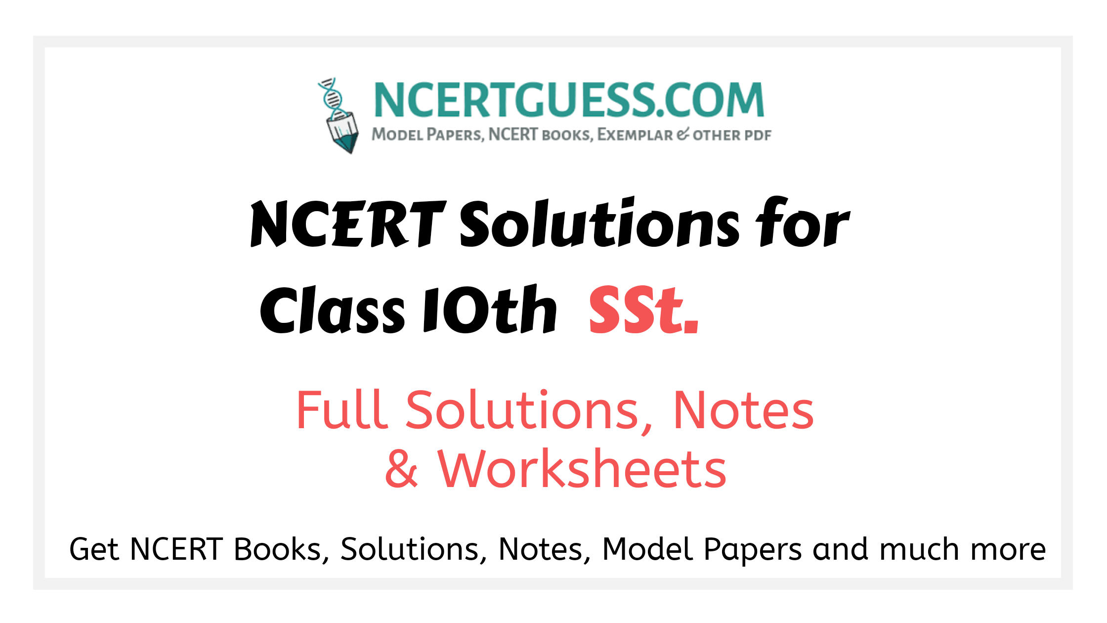 Ncert solutions class 10th social science