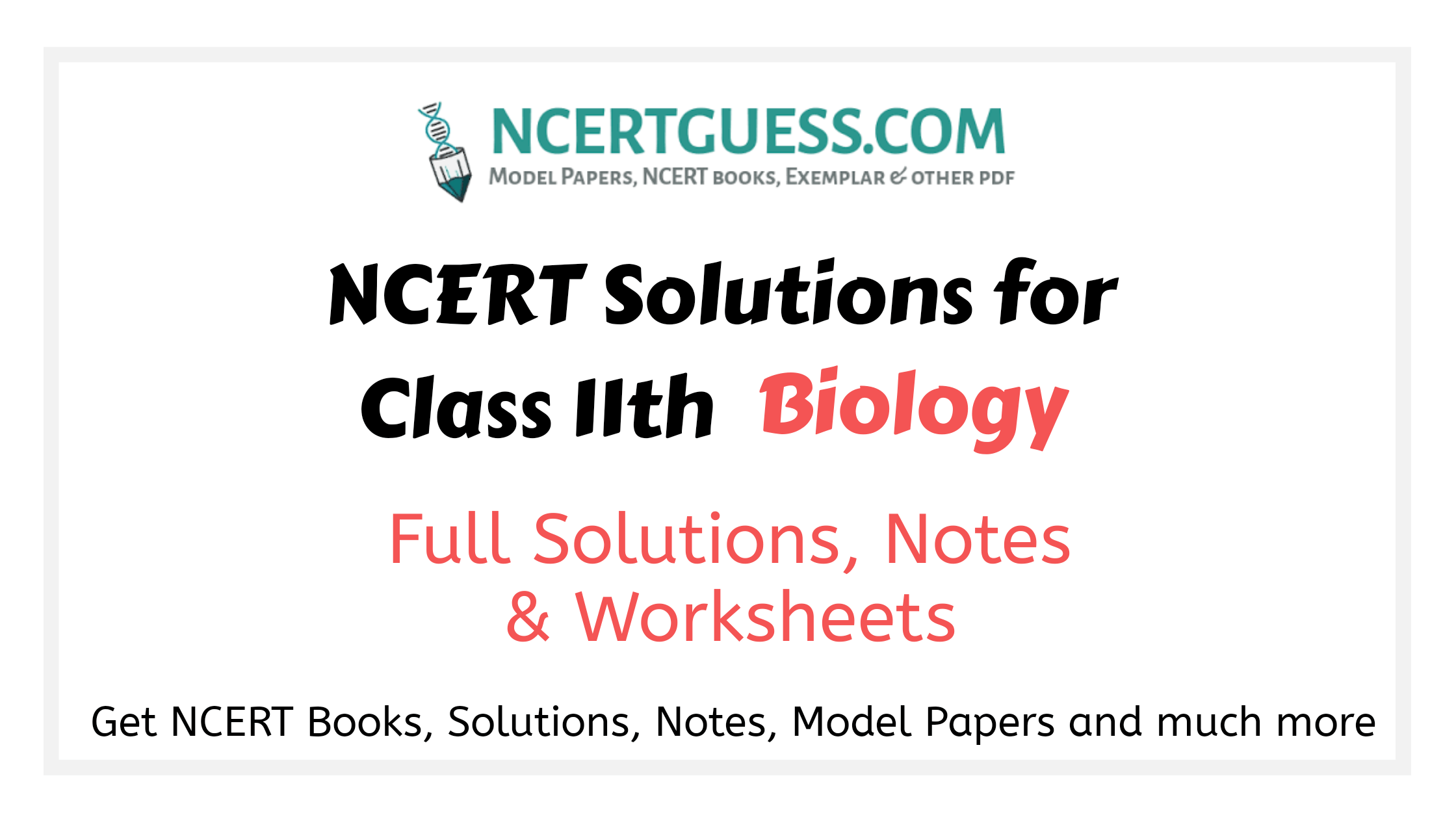 Class 11th biology solutions