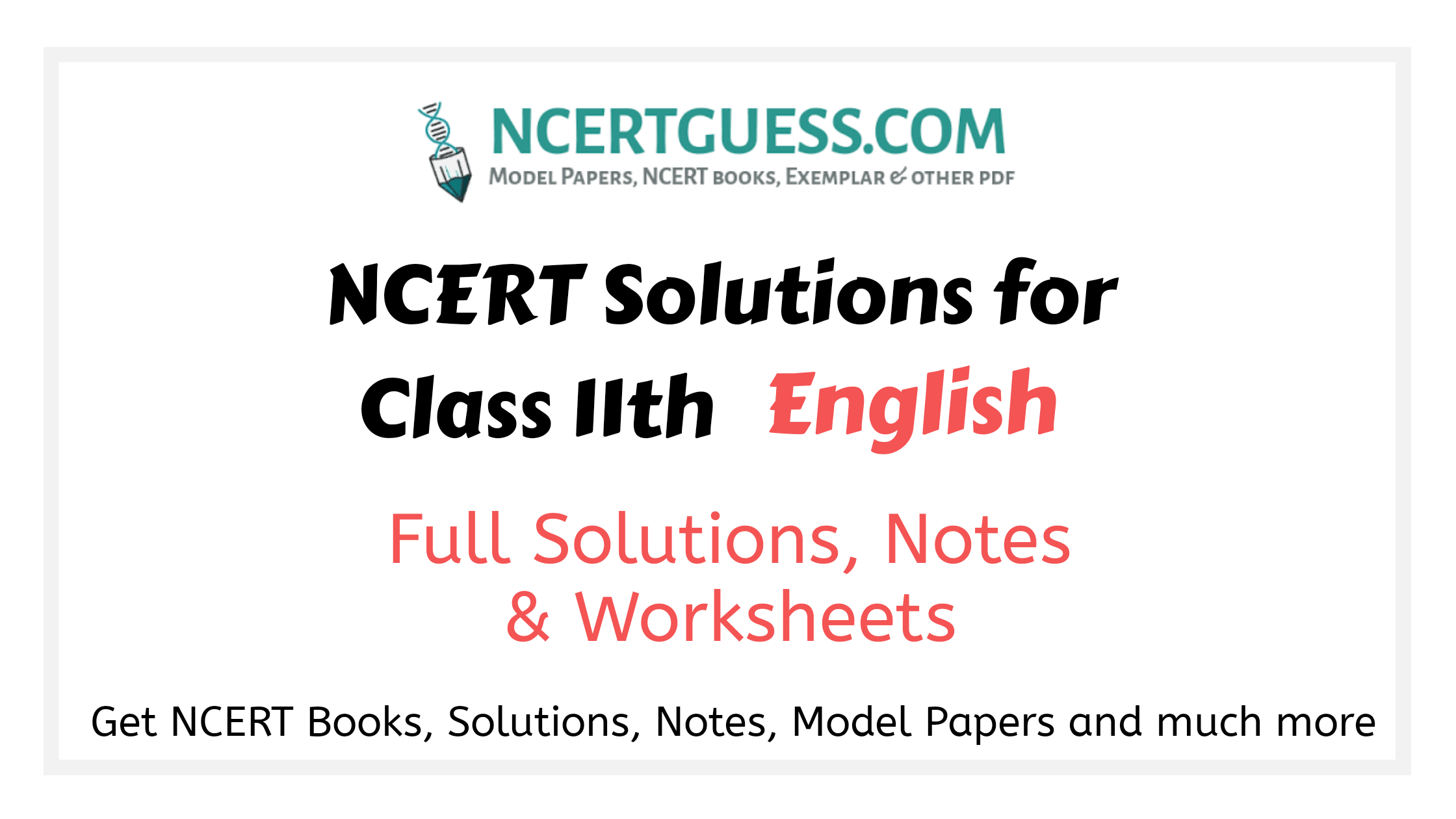 Class 11th english solution