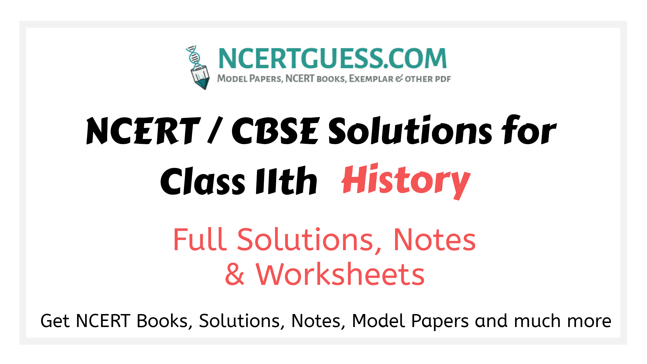 Class 11th history Solutions