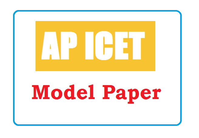 AP ICET Model Paper 2020