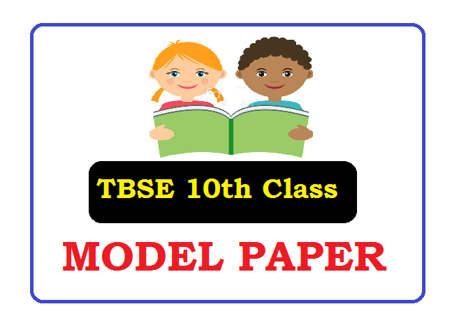 TBSE 10th Model Paper 2020
